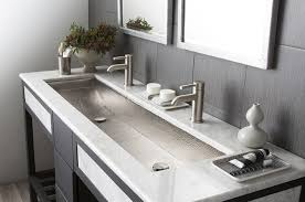 sink inspiration bathroom captivating floating white trough