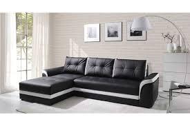canapé d angle noir et blanc pas cher canapé d angle convertible dumno design