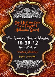 Halloween Birthday Invitations by Halloween Birthday Party Invitation Wording
