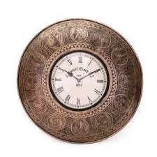 large wall clock vintage large wall clock decorative handmade brass zodiac sign home