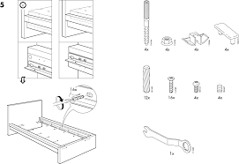 download ikea malm bed frame twin assembly instruction for free