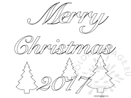 merry christmas 2017 clip art word coloring page