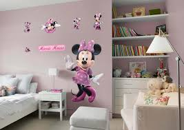 Mickey And Minnie Bedroom Ideas Minnie Mouse Wall Decal Shop Fathead For Mickey Mouse Decor