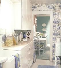 Cottage Style Kitchen Accessories - toile kitchen accessories blue toile wallpaper kitchen