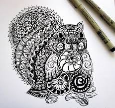 wonderful black ink ornate squirrel tattoo design tattooimages biz