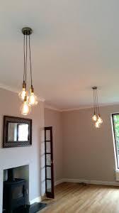 Hanging Light Bulb Pendant Edison Bulb Pendant Light Fixture 3 Cluster Any Colors Multi