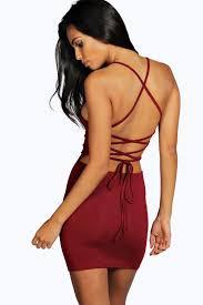 boohoo clothing rhiannon strappy back mini dress boohoo