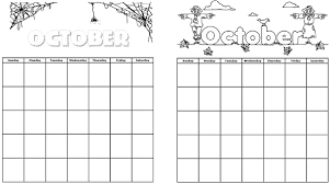 printable calendars for october