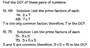 factoring greatest common factor gcf examples