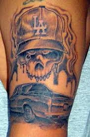 la hat skull with my el co and a smokey la city back drop yelp