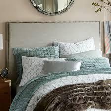 Upholstered Headboard Bed Frame Nailhead Upholstered Headboard West Elm