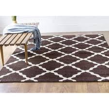 Polypropylene Area Rugs Transitional Rug Transitional Rug Brown High Quality Carpet