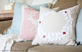Decorative Christmas Pillows Throws by Diy Drop Cloth Christmas Pillows Meadow Lake Road