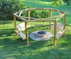Swing Pergola by Porch Swing Fire Pit 12 Steps With Pictures
