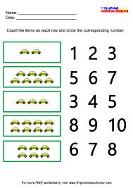 kindergarten number recognition worksheets free worksheets library
