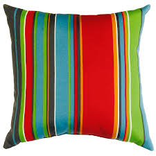 Square Sofa Pillows by Shop Garden Treasures Stripe And Striped Square Throw Pillow