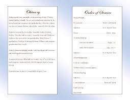 Funeral Programs Samples Memorial Service Program Template
