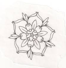 22 best flower outline tattoo images on pinterest searching