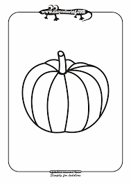 pumpkin simple vegetables easy coloring pages for toddlers