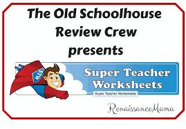 review super teacher worksheets renaissance mama