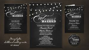 eat drink and be married invitations read more chalkboard string lights eat drink and be married
