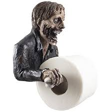 the undead graveyard zombie decorative toilet paper holder in