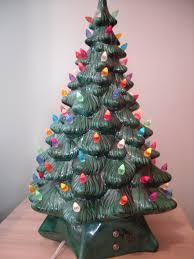 vintage ceramic christmas tree vintage green ceramic christmas tree christmas lights decoration