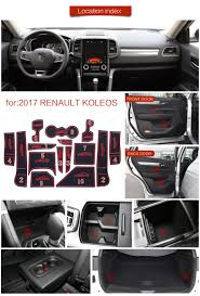 renault koleos 2017 red for renault koleos 2017 rubber non slip interior door pad cup mat