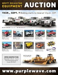 sold september 7 kevitt excavating equipment auction purp