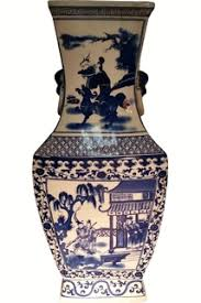 Blue And White Vases Antique Chinese Porcelain Vases Oriental Furnishings