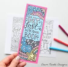 free printable coloring bookmarks dawn nicole designs