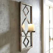sconce pair of vintage tin mirrored candle wall sconces ebay