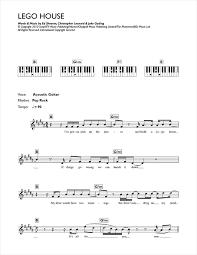 lego house tutorial guitar easy lego house sheet music by ed sheeran keyboard 116842