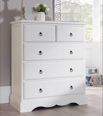 ROMANCE White Bedroom Furniture Bedside Table Chest Of Drawers - White bedroom furniture northern ireland