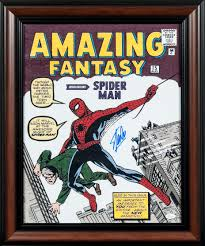 lot detail stan lee signed and framed 16x20 spiderman amazing