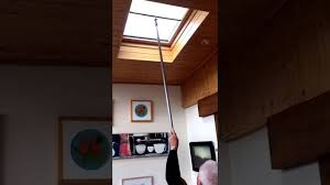 velux blind skylight manual operation thomas sanderson youtube
