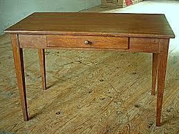 bureau rustique table bureau rustique en pin et frêne tiroir en façade meubles