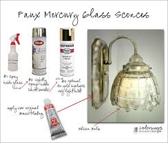 How To Make A Mercury Glass Vase How To Paint A Light Fixture To Look Like Mercury Glass Using