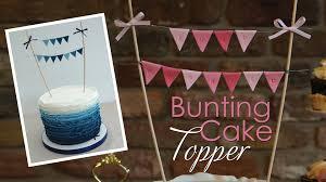 cake banner topper bunting cake topper tutorial