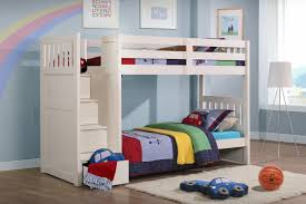 home design whiye polished maple wood bunk bed with curved stair