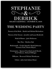 wedding program poster unique wedding programs shutterfly