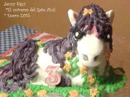 el universo del gato azul pastel my little pony 3d my cakes