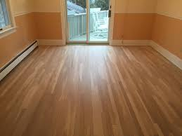 hardwood floors refinished with bona water base finish