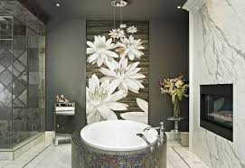 bathroom artwork ideas bathroom ideas with white flower wallpaper decolover