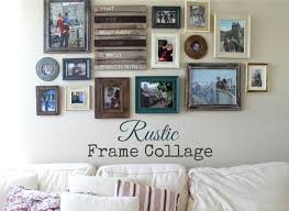 pretty rustic frame collage frames from michaels tj maxx home