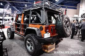 jeep soft top open 2013 sema rugged ridge mango tango jeep jk wrangler 4 door
