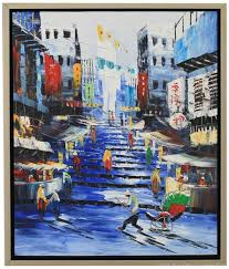 home decor hong kong decorative art handmade oil painting on canvas living room home