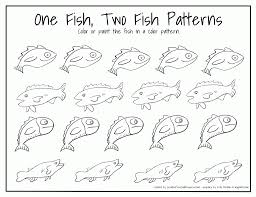 one fish two coloring page with one fish two coloring pages eson me