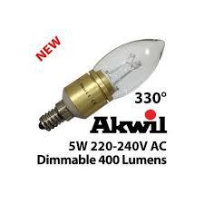 new akc 5w b15 u0026 e14 akwil dimmable led candle light bulb 240v 5w