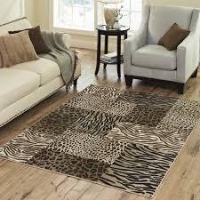 Zebra Print Rug Australia Animal Print Carpet Australia 160230cm 6379in Black And White